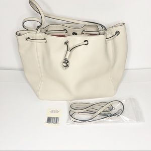 NWT Italian Lambskin Leather Bucket Bag